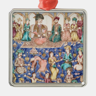 Musicians and dancers christmas ornament