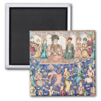 Musicians and dancers square magnet
