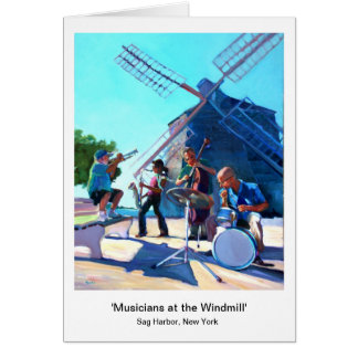 Musicians at the Windmill Card