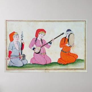 Musicians 'Costumes de la Cour et de la Poster
