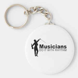musicians do it with rhythm basic round button key ring