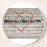 Musicians Duet coaster