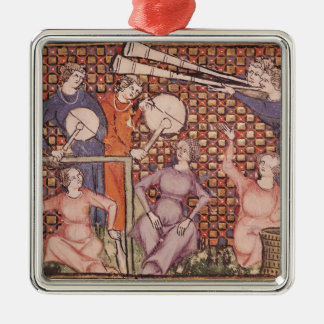 Musicians, from Ovide Moralise Silver-Colored Square Decoration