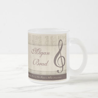 Musicians in love frosted glass mug