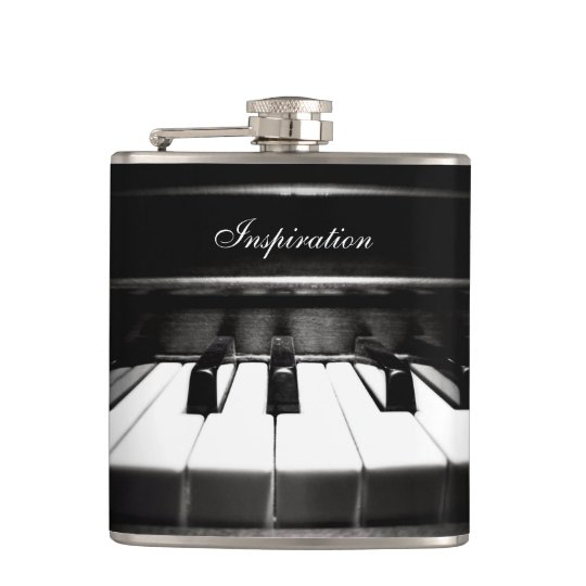 Musician's Inspiration Piano Personalised Flask