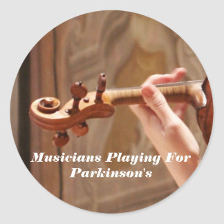 Musicians Playing For Parkinson s Round Stickers