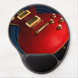 Musician's Red Electric Rock Guitar Gel Mouse Pad