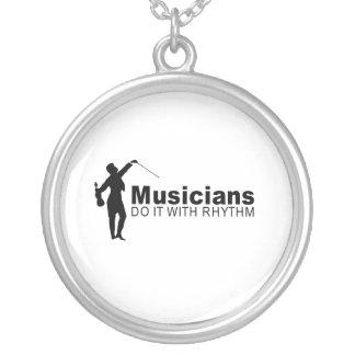 Musicians Round Pendant Necklace