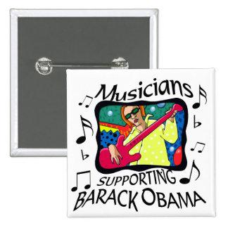 Musicians Supporting Barack Obama 15 Cm Square Badge