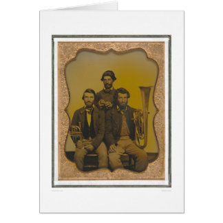Musicians with their instruments (40473) greeting card