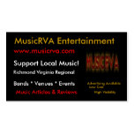 MusicRVA  Business Cards