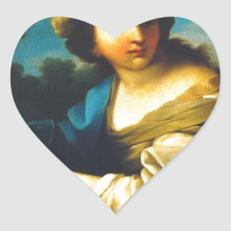 Music's allegory by Vieira Portuense Heart Sticker