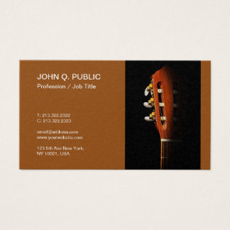 MusicTeacher Guitar Lessons Pearl Finish Luxury Business Card