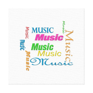MusicWord Cloud 3 Gallery Wrapped Canvas