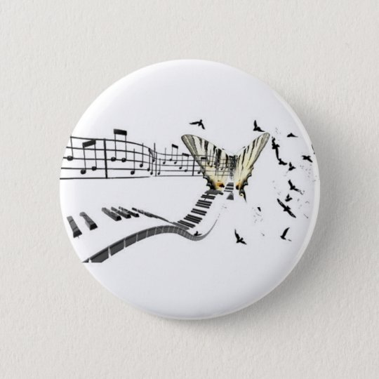 Musiflutter.png 6 Cm Round Badge
