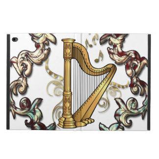 Musik, Harp mit dekorativen floral elements