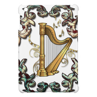 Musik, Harp mit dekorativen floral elements Cover For The iPad Mini