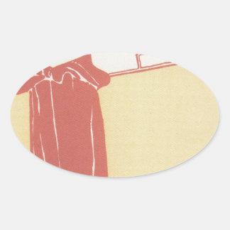 Musik (lithograph) by Gustav Klimt Oval Sticker