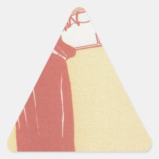 Musik (lithograph) by Gustav Klimt Triangle Sticker