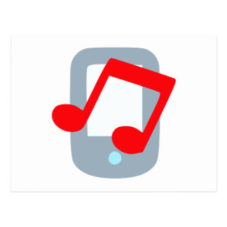 Musik mp3 music player postkarte