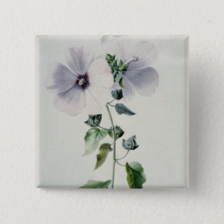 Musk Mallow, 18th century 15 Cm Square Badge