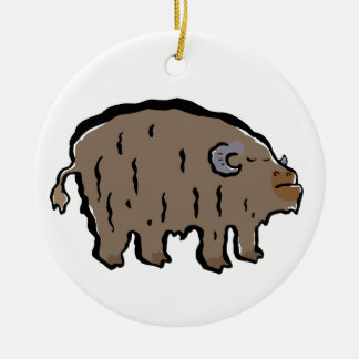 musk-ox christmas ornament
