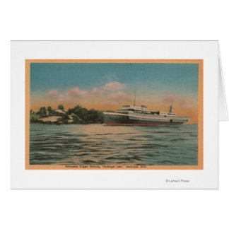 Muskegon, MI - View of Milwaukee Clipper Greeting Card