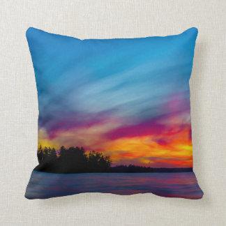 Muskokan Sunset Throw Pillow Cushions