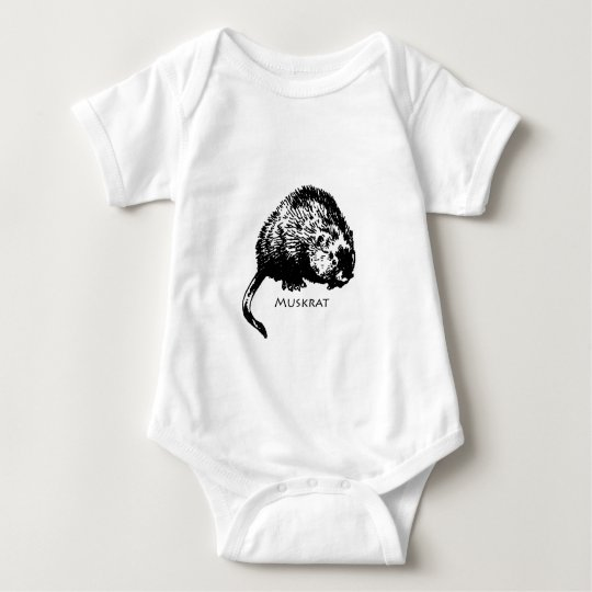 Muskrat (illustration) baby bodysuit