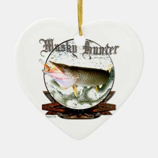 Musky hunter 1 ceramic heart decoration