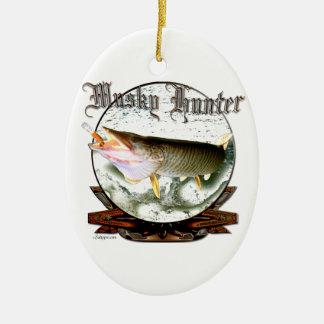Musky hunter 1 christmas ornament