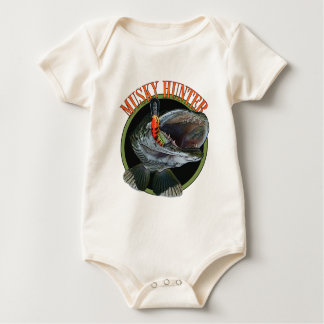 Musky hunter 7 baby bodysuit