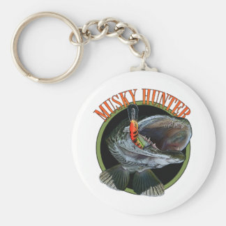 Musky hunter 7 basic round button key ring
