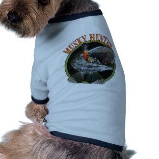 Musky hunter 7 pet tee shirt