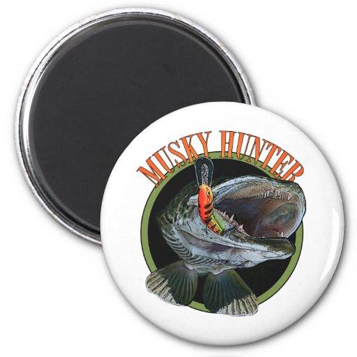 Musky hunter 7 fridge magnet