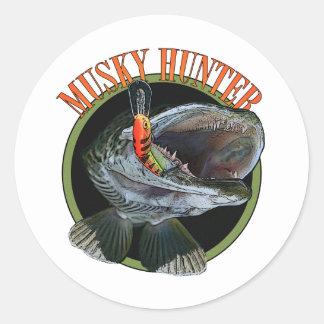 Musky hunter 7 round sticker