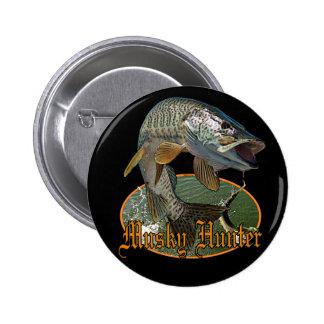 Musky Hunter 9 6 Cm Round Badge