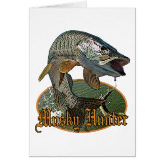 Musky Hunter 9 Greeting Card