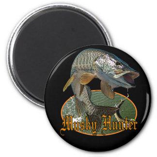 Musky Hunter 9 6 Cm Round Magnet