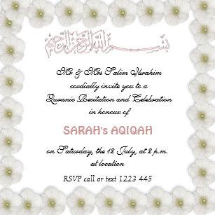 Muslim Baby Invitations Stationery Zazzle Uk