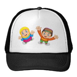 Muslim boy and girl cap