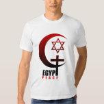MUSLIM CHRISTIAN JEW EGYPT PEACE TEE SHIRT