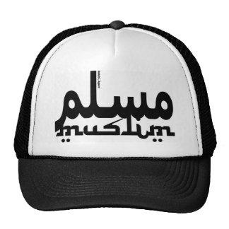 Muslim English Arabic Mesh Hats