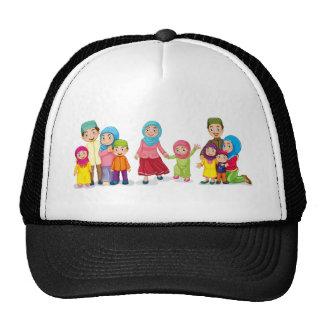 Muslim families looking happy cap