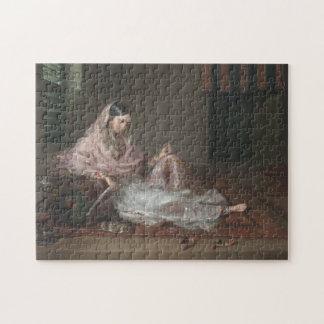 Muslim Lady Reclining By Francesco Renaldi Puzzles