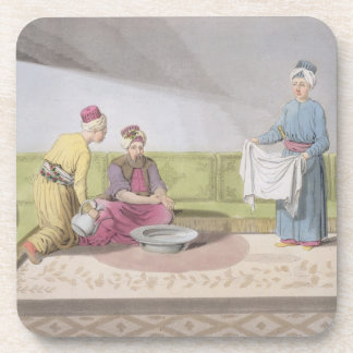 Muslim Performing his Ablutions, plate 34 from Par Coaster