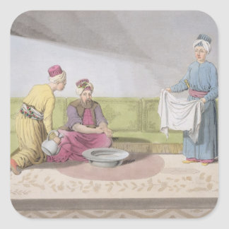 Muslim Performing his Ablutions, plate 34 from Par Square Sticker