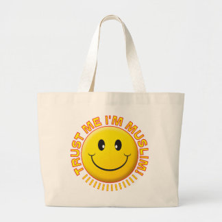 Muslim Trust Me Smile Tote Bags