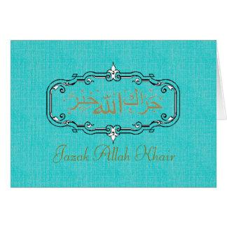 Muslim wedding thank you note card