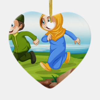 Muslims Ceramic Heart Decoration